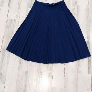 Vintage 70s 80s Accordion Pleat Circle Skirt